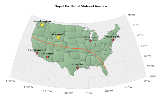 Live Sample Sample Usa Map Points Connector And Points