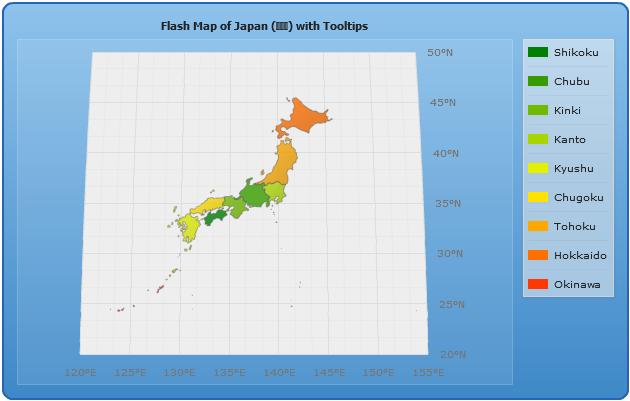 Legend In Maps - Japan map legend
