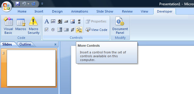 how to make an object flash in powerpoint